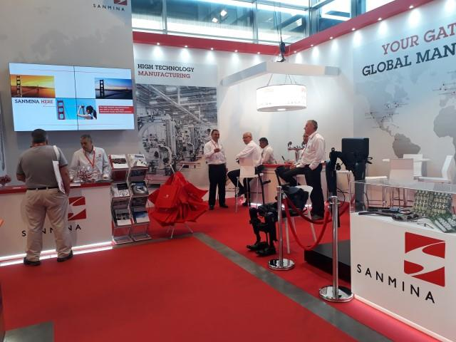 exhibition booth design SANMINA