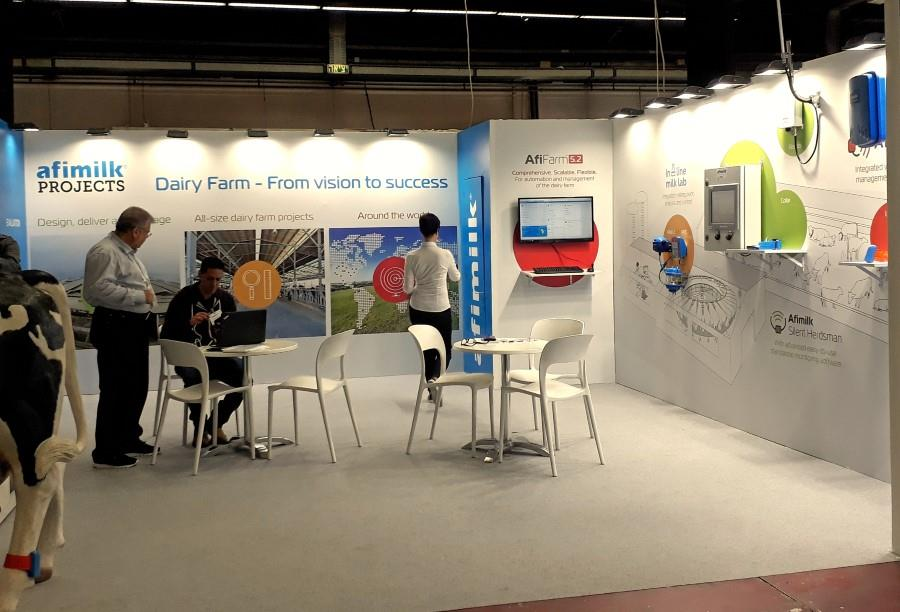 exhibition booth design AFFIMILK
